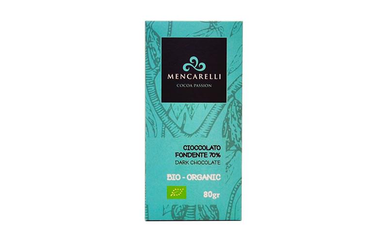 Tavoletta 80g - Cioccolato Fondente 70% - Biologico