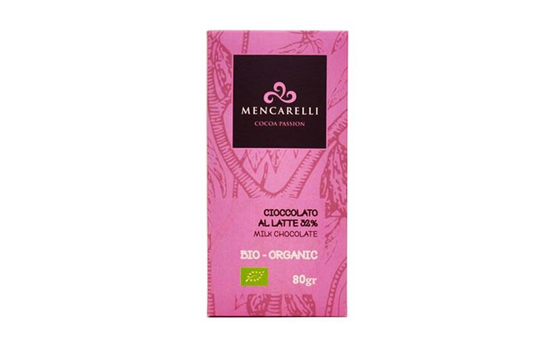 Tavoletta 80g - Cioccolato al Latte - Biologico